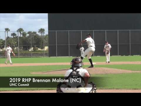 2019 RHP Brennan Malone (NC), UNC commit 10-8-16