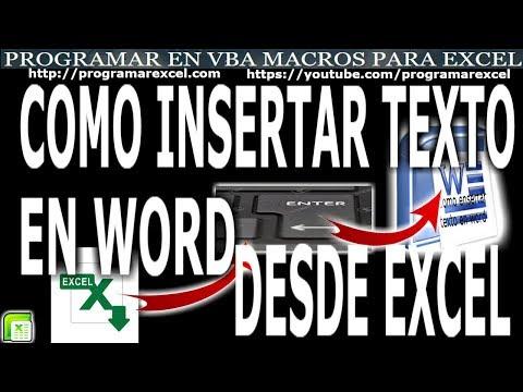 Como Conectar Excel Con Word Crear Archivo E Insertar Texto Programar En Vba Macros De Excel