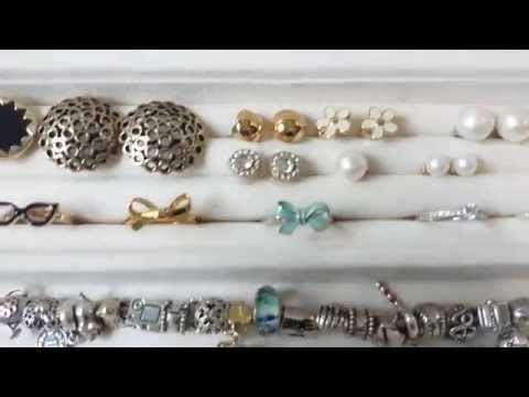 Pottery Barn McKenna Jewelry Box & My Jewelry Collection
