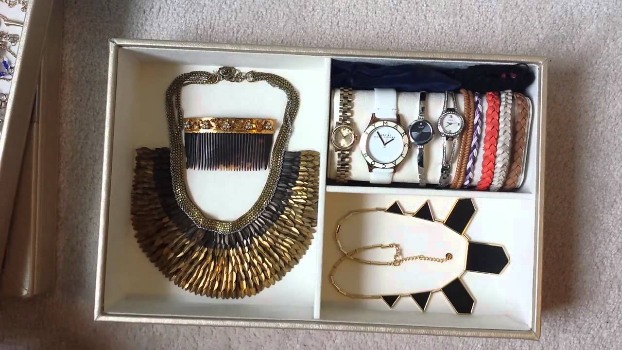 Pottery Barn McKenna Jewelry Box My Jewelry Collection YouTube