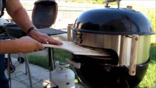 KettlePizza attachment on Weber One Touch Gold