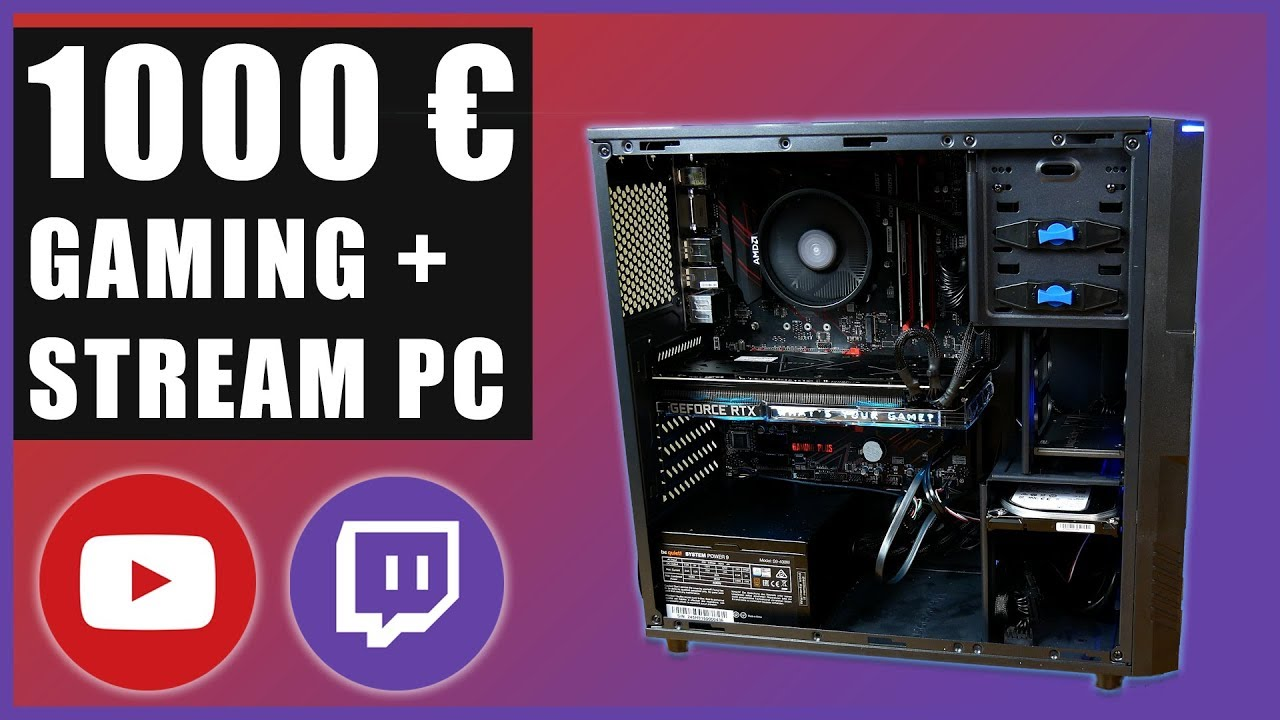 1000 euro gaming und streaming pc 1440p gaming 720p. Black Bedroom Furniture Sets. Home Design Ideas