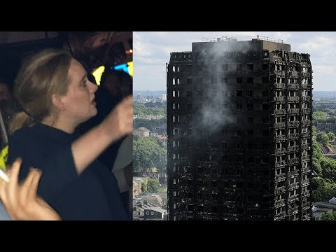 Adele Attends Emotional Vigil For Grenfell Tower Fire in London