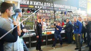Краш тест на выставке 2020 Охота и Рыболовство на Руси по версии Снасти Здрасьте