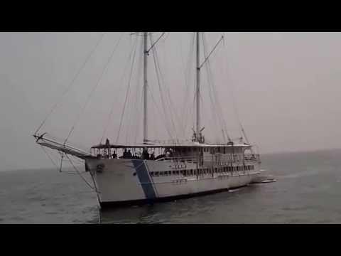 40 M Schooner Arriving at Kali Adem Port 1, Jakarta, Indonesia
