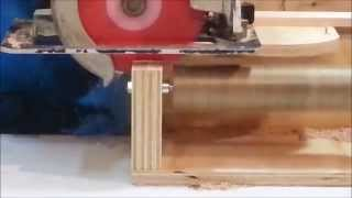 Log Furniture Tenons With A Circular Saw!