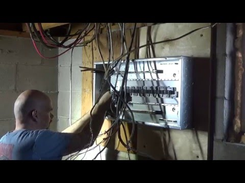The Electrical panel change.......Installation of the new panel and wires