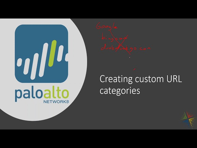 Creating Custom URL Categories in the Palo Alto