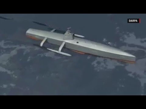 U.S. Navy tests new submarine-hunting drone ship