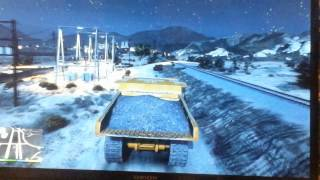 Location for big dump truck in GTA 5