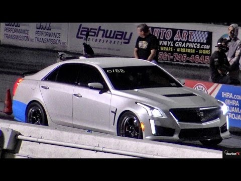 FIRST !! 2016 CTS-V in the 10s - 10.66 @ 133 mph - Road Test TV ®