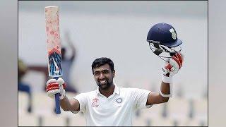 india vs west indies 3rd test match ashwin saha scores century creates record   वनइ ड य ह न द