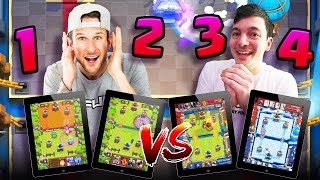 PLAYING ON 4 IPADS!? • Clash Royale 2V2 MADNESS