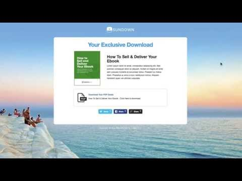 OptimizePress Club: SUNDOWN - Download Page Template
