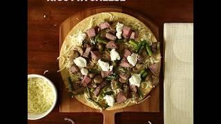 Steak and Mushroom Pizza