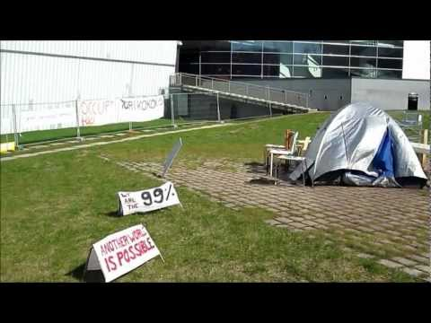 Occupy Helsinki Camp in front of Kiasma - Helsinki Finland, May 2012