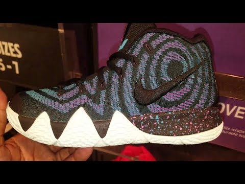 "reputable site ca097 c6632 KYRIE IRVING'S Nike Kyrie 4 ""Decades Pack"" 70S & 80S IN STORE SNEAKER REVIEW"