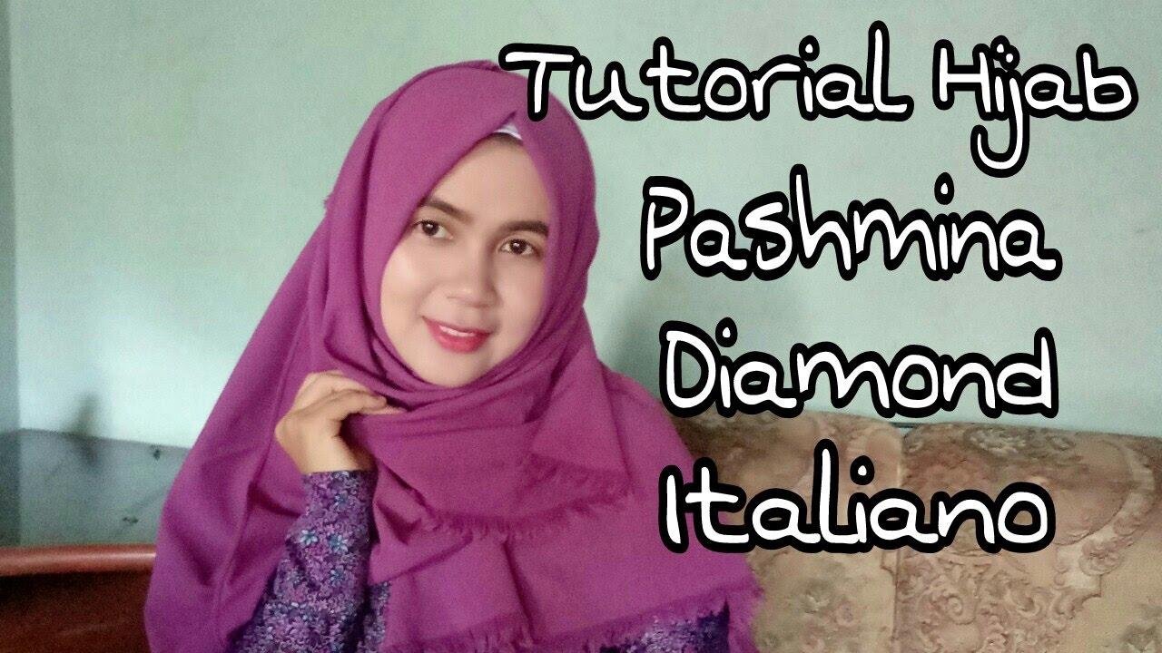 Tutorial Hijab Pashmina Diamond Italiano 5 Dessi Tika