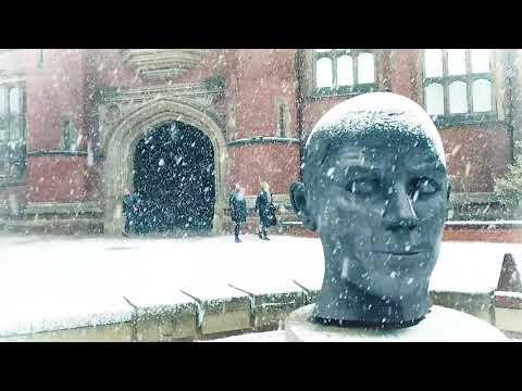 Newcastle University Campus In Snow