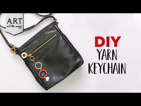 diy-yarn-keychain-|-yarn-crafts