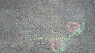 16 dots rangoli | butterfly kolam with colours | cute flower kolam muggulu for pongal