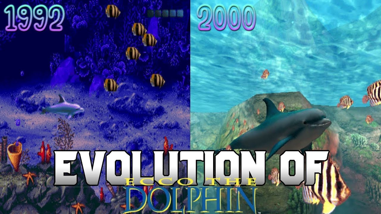 Graphical Evolution of Ecco the Dolphin (1992-2000)