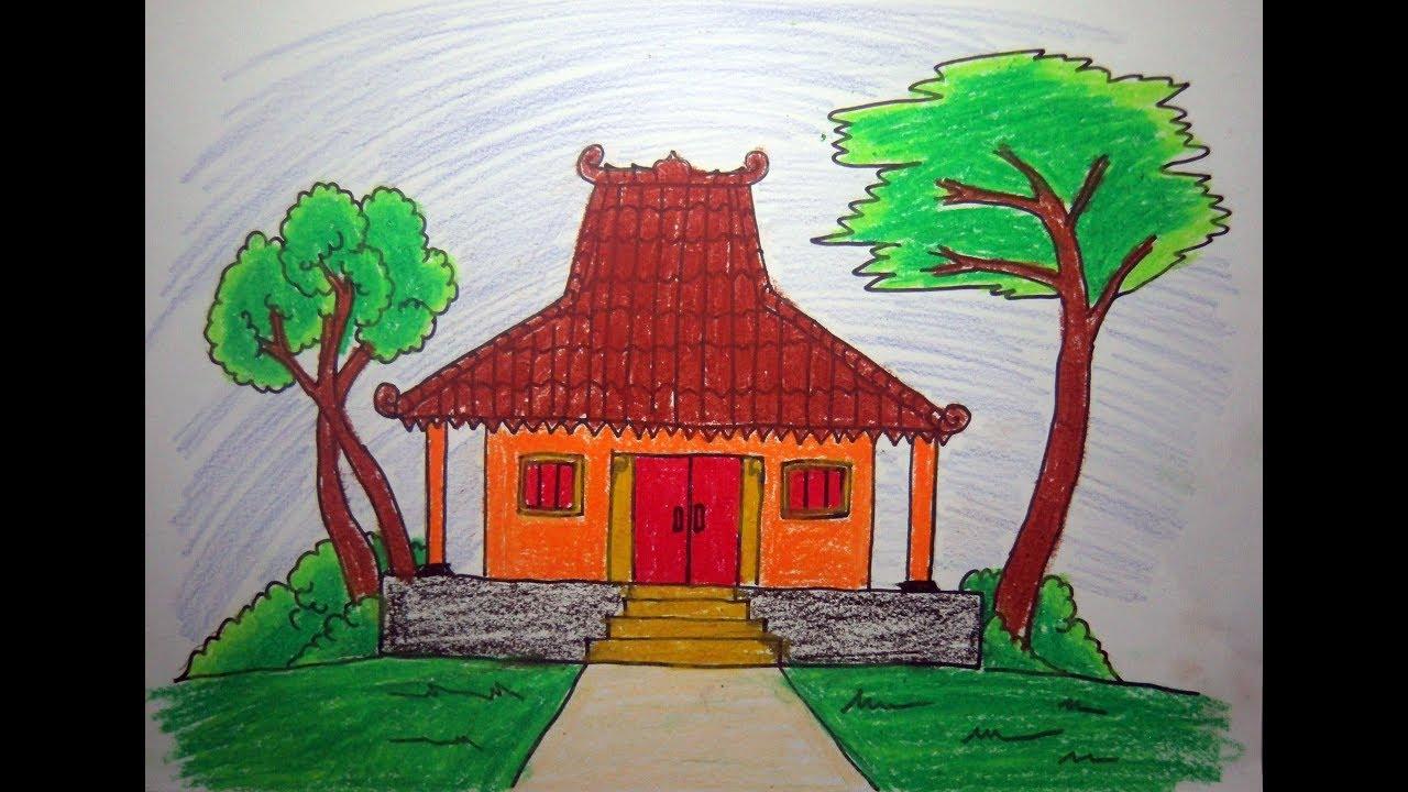 Cara CEPAT Dan MUDAH Menggambar Rumah Adat Joglo