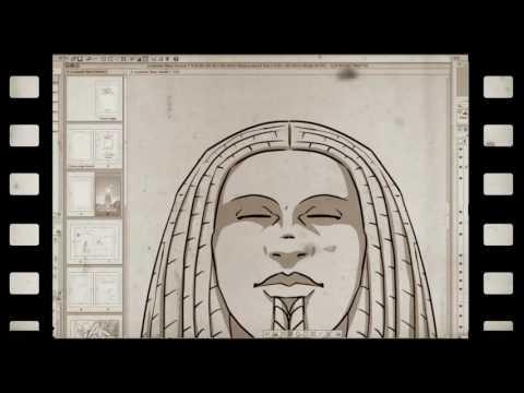 """Création de la première page de la bande dessinée """"La planète Takoo"""""""