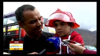 Cape Town firefighters celebrated
