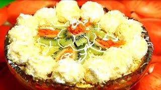 Очень вкусный салат из куриной грудки и киви