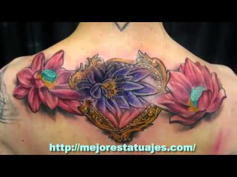 Tatuajes De Flor De Loto En La Espalda Youtube