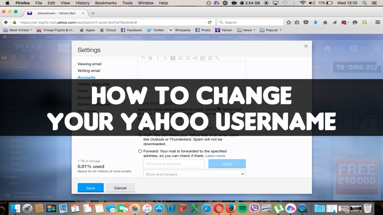 How to Change Your Yahoo Username or Email Address / Video Tutorial