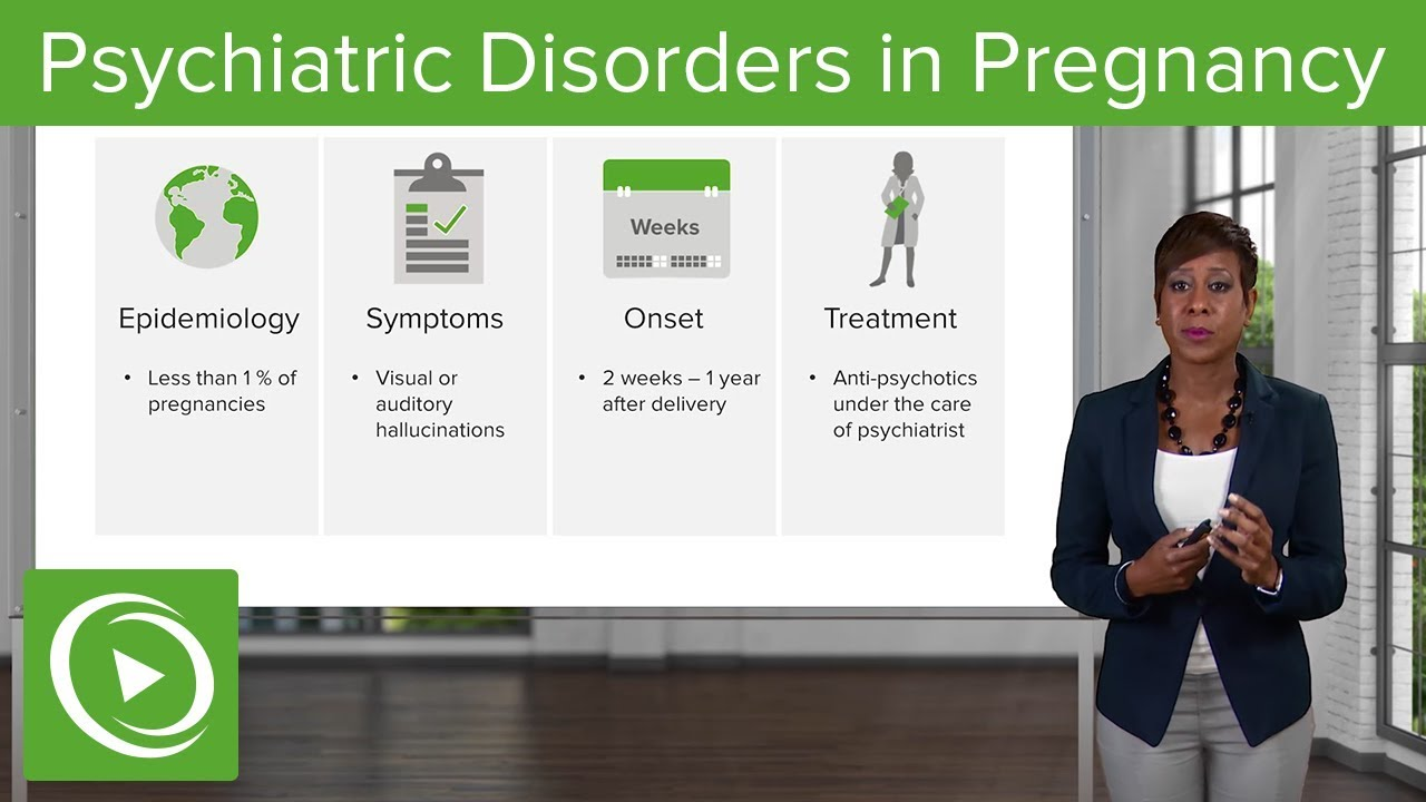 Psychiatric Disorders in Pregnancy – Obstetrics | Lecturio