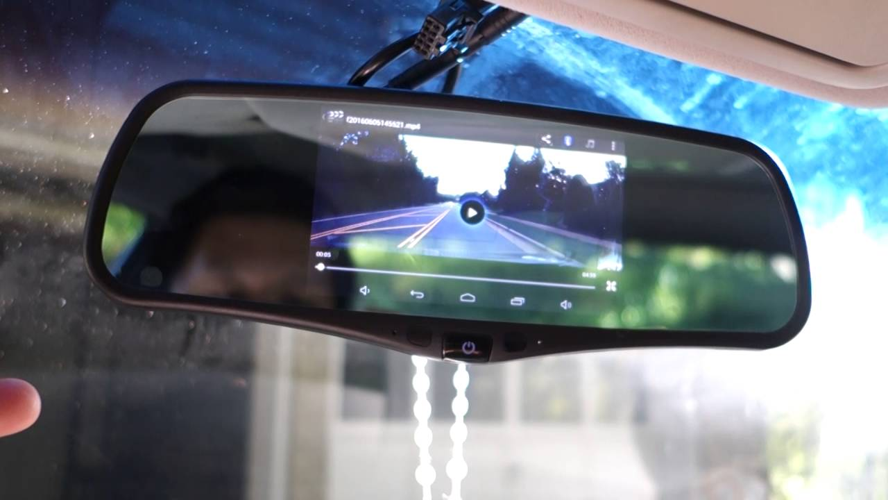 smarture  android smart gps rearview mirror review youtube