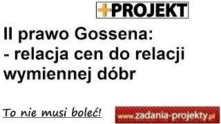 II prawo Gossena - relacja cen do relacji wymiennej dóbr - rozwiązany przykład