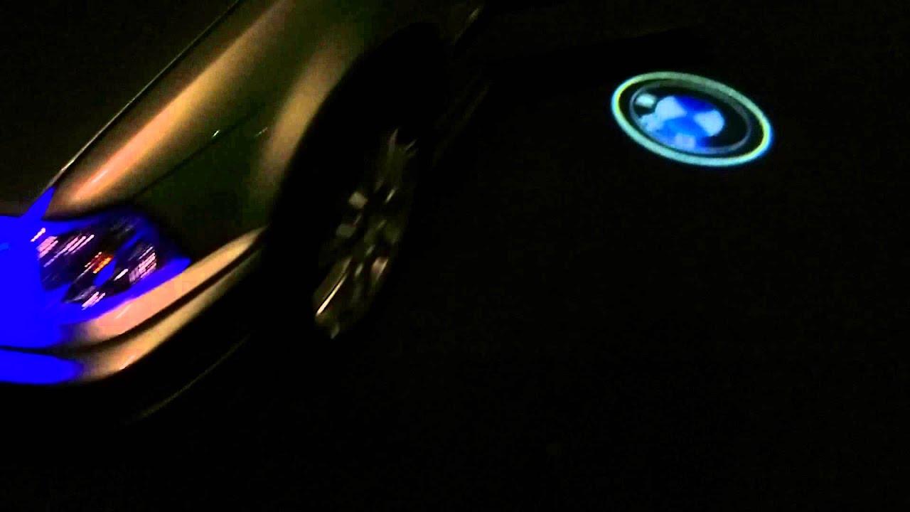 bmw e36 blaues licht und logo youtube. Black Bedroom Furniture Sets. Home Design Ideas