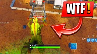 COMMENT VOLER AVEC LA CHARIOT SUR FORTNITE NEW SHOPPING CART GAMEPLAY !