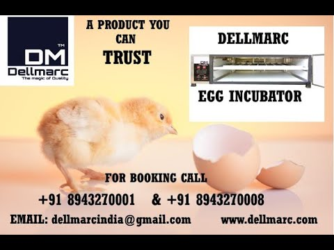 Dellmarc  Fully Automatic Egg Incubator-50 Capacity Call :+918943270005, +918943270008