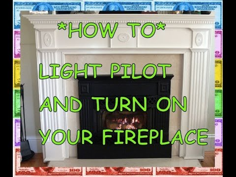 PILOT LIGHT: HOW TO light a fireplace (natural gas propane) - YouTube