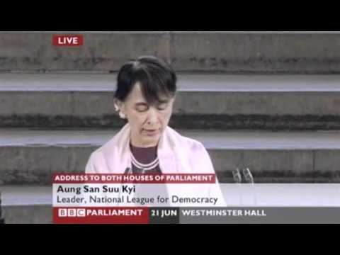 Aung San Suu Kyi's address to both Houses of Parliament - in full.