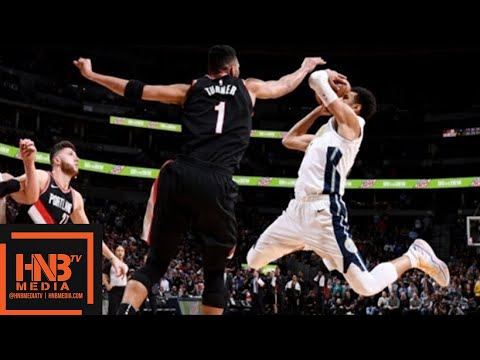 Denver Nuggets vs Portland Trail Blazers Full Game Highlights / Jan 22 / 2017-18 NBA Season