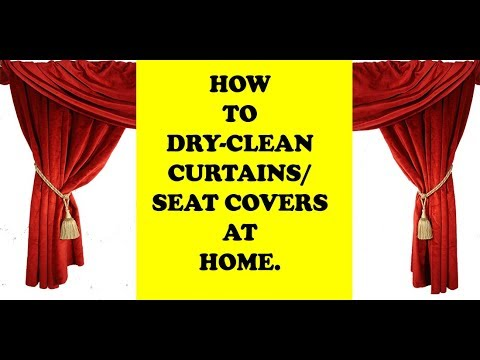 How To Dry-Clean Curtains /Dry Cleaning at home / Laundry / Dry Cleaning in English.