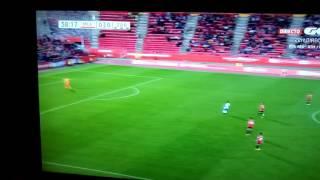 Gol Juan Muñoz Real zaragoza -mallorca 2016. Homenaje a nayim