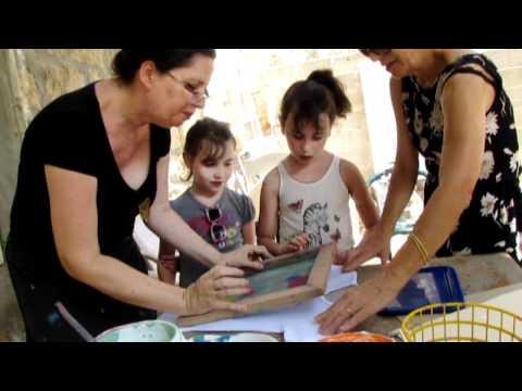 Ein Hod Artists' Village, Israel -  Ilana & Ella Art Workshop  בילוי עם נכדים