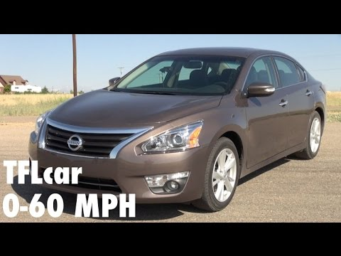 2014 Nissan Altima 0 60 Mph Review So Why Do We Test Family Cars On