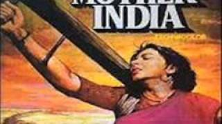 MOTHER INDIA=DUNIYA MAIN HUM AAYE HAI TO JEENA{JHANKAR} LATA.wmv