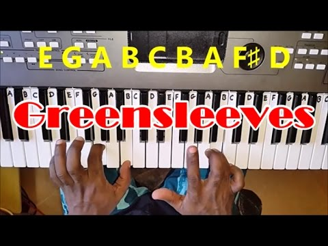how to play greensleeves on keyboard