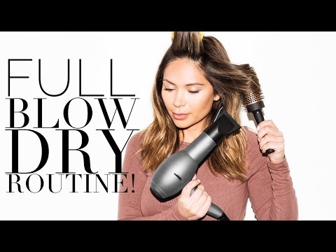 Full Blow Dry Routine from Wet to Dry