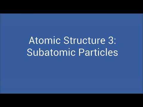 Atomic Structure 3 - Subatomic Particles