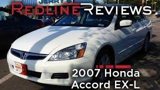2007 Honda Accord EX-L Review, Walkaround, Exhaust, Test Drive